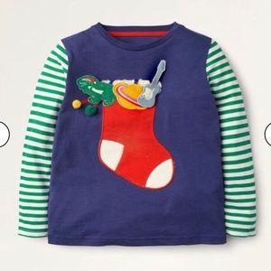 NWT mini boden Fun Christmas T-Shirt